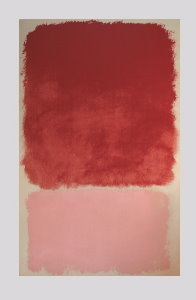 Mark Rothko serigraph, Red over Pink