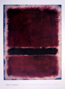 Mark Rothko poster, Untitled, 1963