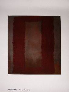 Affiche Mark Rothko, Rouge sur marron