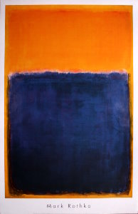 Mark Rothko poster, Untitled 1950