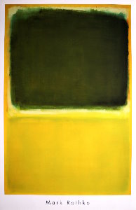 Mark Rothko poster, Untitled 1951