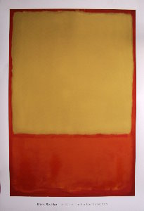 Affiche Mark Rothko, The Ochre (Ochre, red on red), 1954