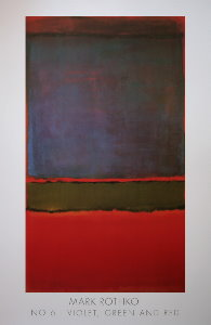 Mark Rothko poster, n°6 (Violet green and red), 1951