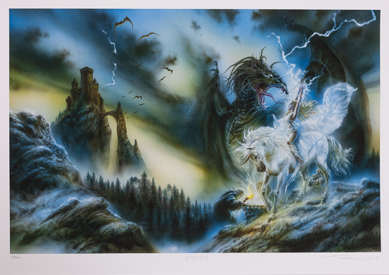 Luis Royo signed Fine Art Pigment Print, Memory in white