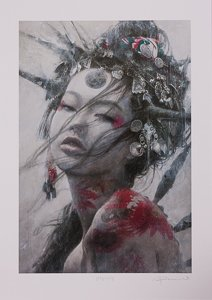 Romulo Royo signed Pigment print, The Creator Horn