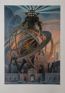 Affiche Schuiten, Machines à dessiner