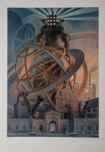 François Schuiten Signed Art Print, Machines à dessiner