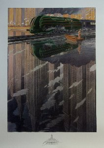 Affiche Schuiten, La Type 12, reflet (Train Atlantic 12)