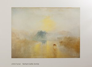 Affiche William Turner, Norham Castle, Sunrise (1845)