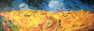 Vincent Van Gogh print, Wheatfield with Crows, 1890