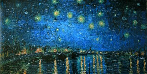 Vincent Van Gogh print, Starry Night over the Rhone, 1888