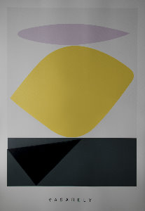 Victor Vasarely serigraph, Souzon, 1952