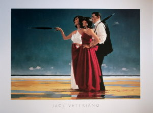 Affiche Jack Vettriano, The Missing Man I