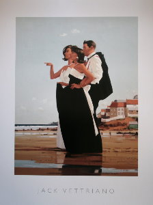 Affiche Jack Vettriano, The Missing Man II