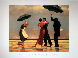 Affiche Jack Vettriano, The singing Butler