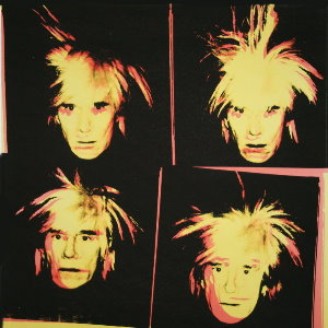 Stampa Warhol, 4 Yellow Andys, 1986