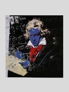 Stampa Warhol, Beethoven (Blue face), 1987