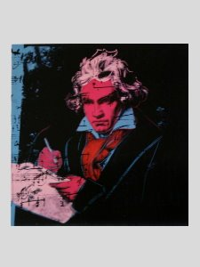 Stampa Warhol, Beethoven (Red face), 1987