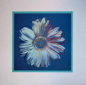 Stampa Warhol, Daisy Blue on Blue, 1982