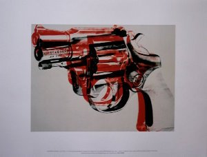 Stampa Warhol, Gun (black, red, white), 1982