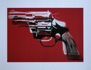Stampa Warhol, Gun (on red), 1981-82