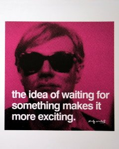 Stampa Warhol, The idea of waiting for something