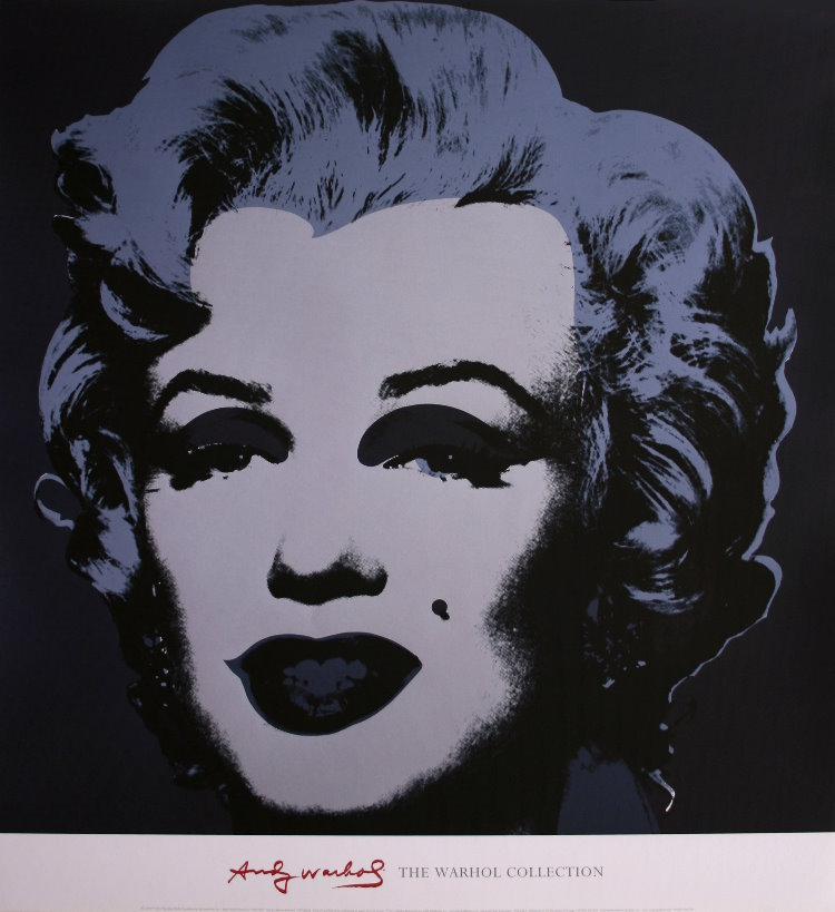andy warhol poster marilyn monroe black 1967 reproduction