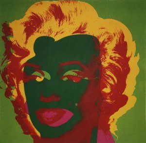 Stampa Warhol, Marilyn Monroe (On Green), 1967