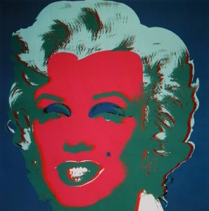Stampa Warhol, Marilyn Monroe (on peacock blue, red face), 1967