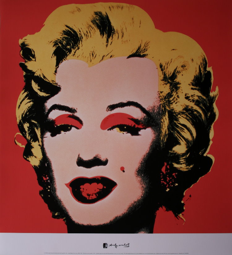Affiche Andy Warhol Marilyn Monroe Red 1967 Reproduction Poster