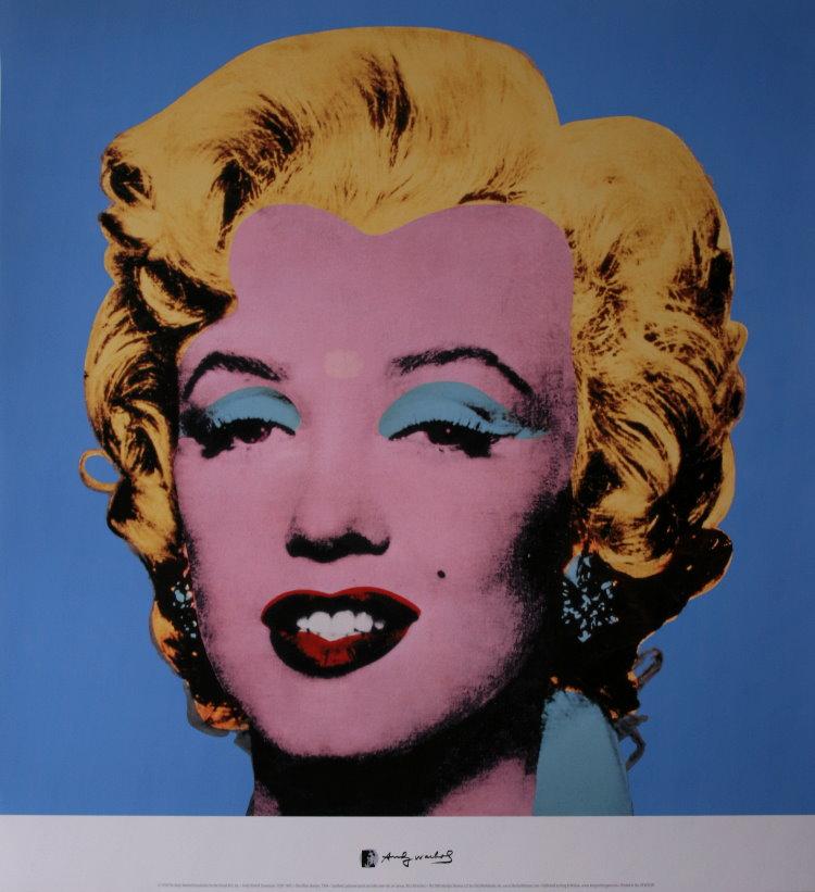 andy warhol poster marilyn monroe shot blue 1964 reproduction
