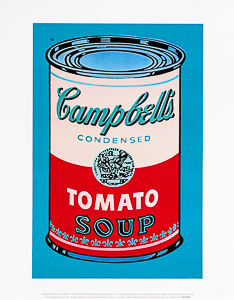 Stampa Warhol, Soupe Campbell, 1965 (rose et rouge)