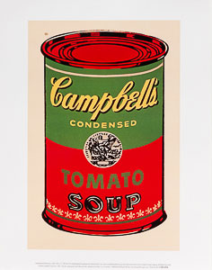 Stampa Warhol, Soupe Campbell, 1965 (vert et rouge)