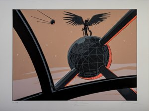 Bernard Yslaire Serigraph - The sky over the Atomium