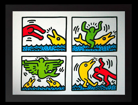 Keith Haring framed print : Pop Shop 5