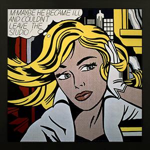Affiche encadrée Roy Lichtenstein : M-Maybe (A Girl´s Picture)