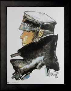 Corto Maltese framed poster : Dedicated to Corto