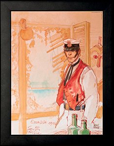 Corto Maltese framed poster : South Pacific