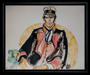 Corto Maltese framed poster : The Ballad of the Salty Sea