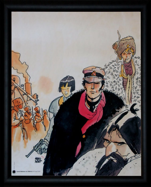 Affiche Encadre Corto Maltese De Hugo Pratt Sibrie 40 X 50 Cm