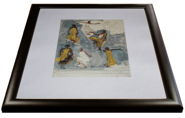 auguste rodin framed print cambodian dancer iii 40 x 50 cm. Black Bedroom Furniture Sets. Home Design Ideas