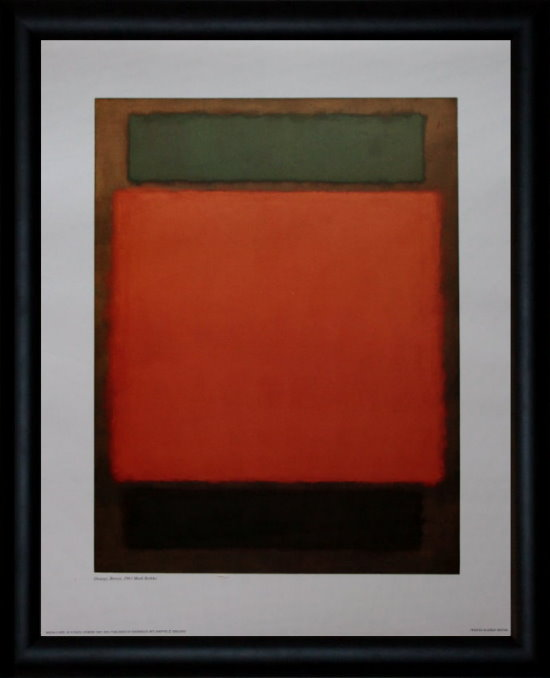 Affiche encadrée de Mark Rothko : Orange, Brown, 1963