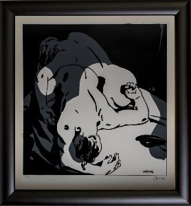 Alex Varenne framed serigraph : Couple n°11