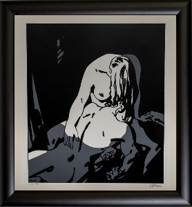 Alex Varenne framed serigraph : Couple n°13