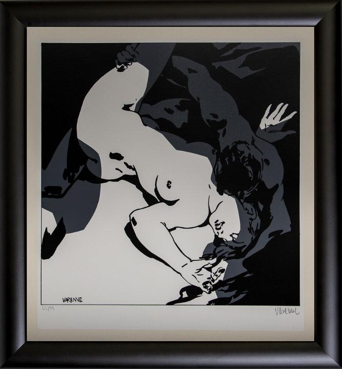 Serigrafía enmarcada Alex Varenne : Couple n°18