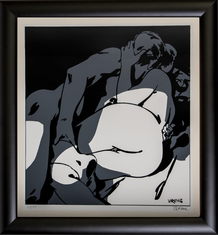 Alex Varenne framed serigraph : Couple n°4