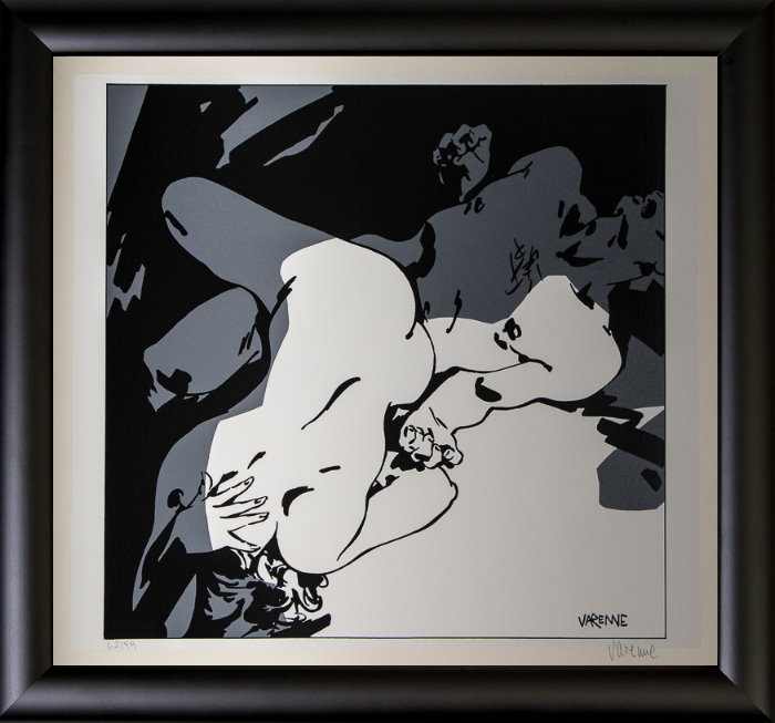 Alex Varenne framed serigraph : Couple n°7