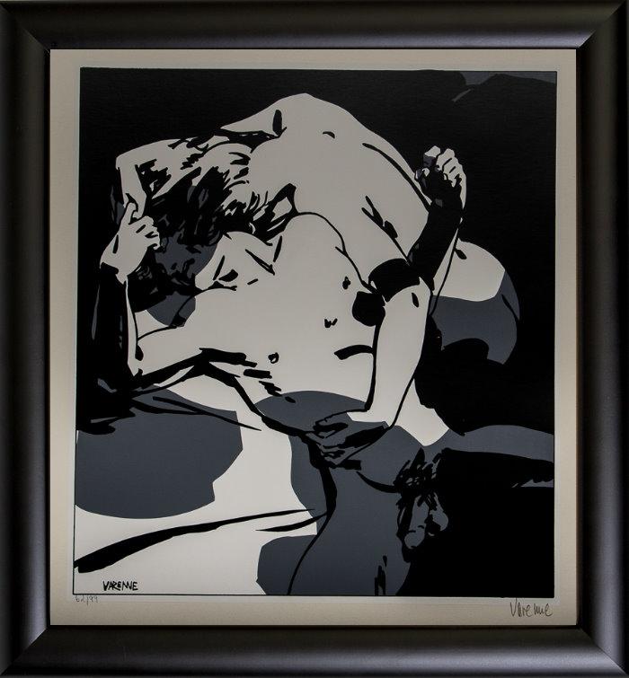Serigrafía enmarcada Alex Varenne : Couple n°8
