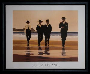 Lámina enmarcada Jack Vettriano : The Billy Boys