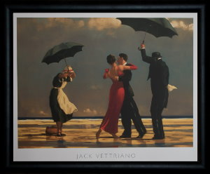 Lámina enmarcada Jack Vettriano : The Singing Butler